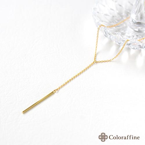 ゴールドバーのネックレス